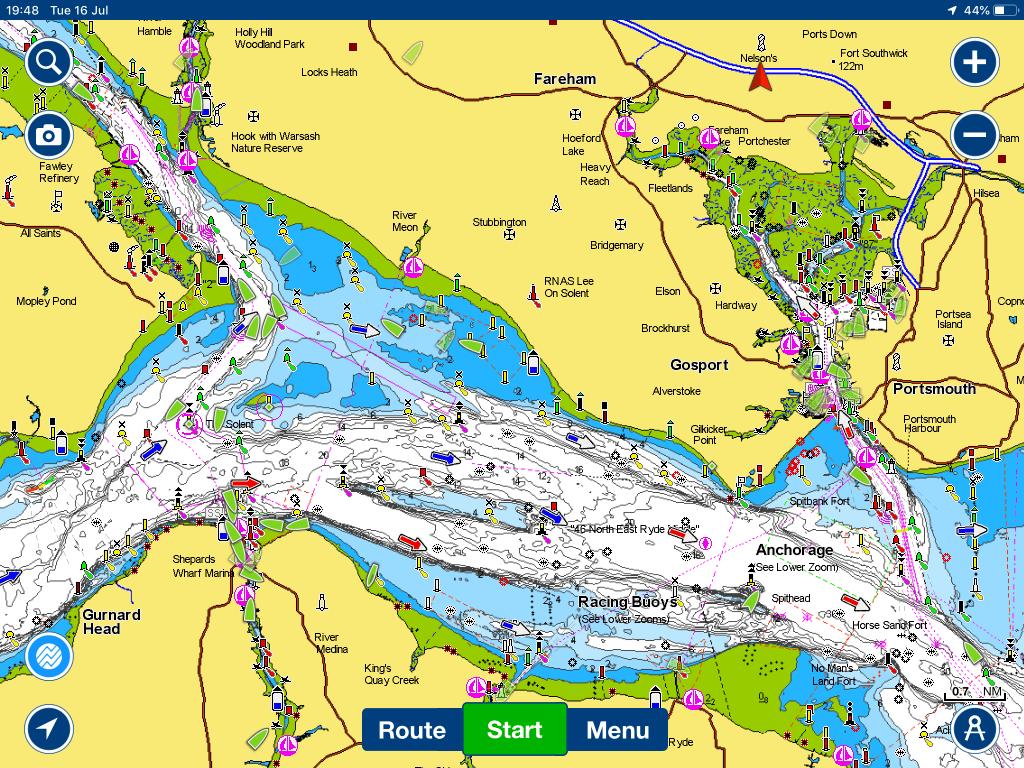 Navigationsanzeige Bildschirm iAISTX
